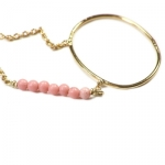 Louise Hendricks necklace My Sea gold/rose