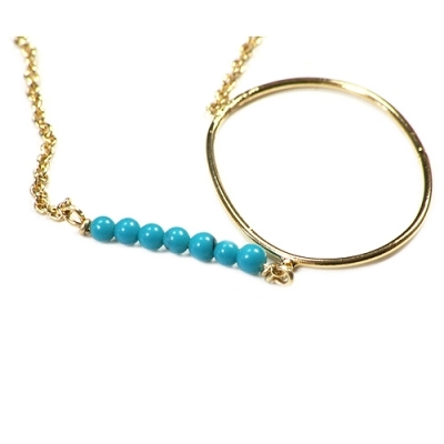 Louise Hendricks necklace My Sea gold/turquoise