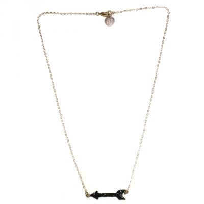 Emmanuelle Biennassis necklace Arrow gold/black