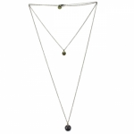 Emmanuelle Biennassis Long Necklace Billie bronze/grey