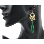 LA2L earrings Debora Longues Vert