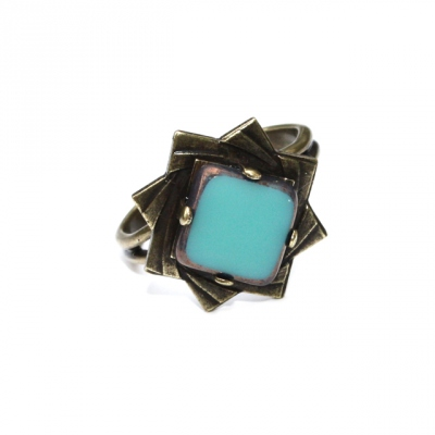 Zalie Smagghe Bague Theodora Turquoise