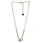 Julie Sion necklace Hula Hoop Blanc