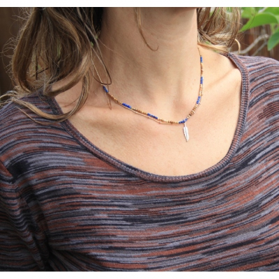 Room Service necklace Nerine Bleu