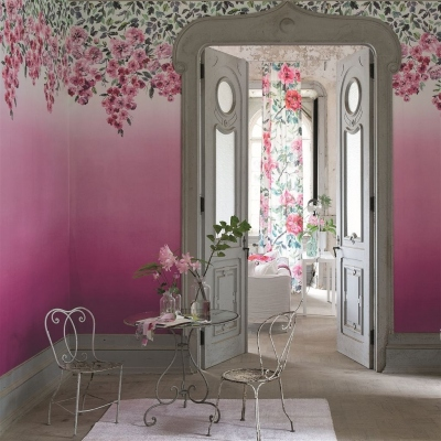 Designers Guild Trailing Rose Peony wallpaper