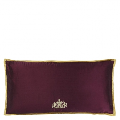 The Royal Collection cushion Coat of Arms Amethyst