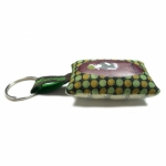 Georges & Rosalie key ring Bad boy green