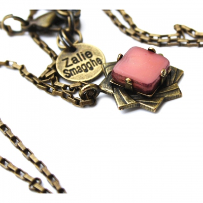 Zalie Smagghe Necklace Theodora pink light