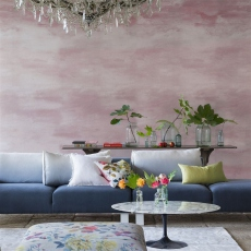 Designers Guild Cielo Pale Rose wallpaper
