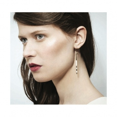 Judith Benita earrings Savoy Pêche