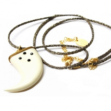 Theodora Gabrielli necklace Moonlight L kaki