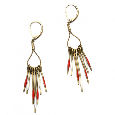 Theodora Gabrielli earrings Phenix piment