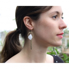 Theodora Gabrielli earrings Shaman S blanche
