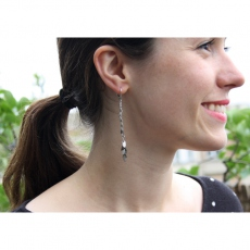 Theodora Gabrielli earrings Irina lurex/bronze