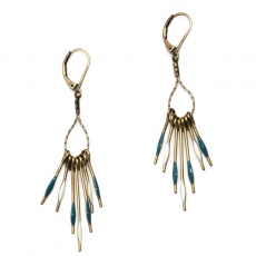 Theodora Gabrielli earrings Phenix duck blue