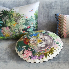 Christian Lacroix coussin Jungle King Opiat