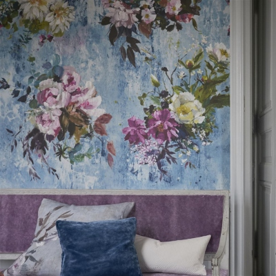 Designers Guild Aubriet Slate Blue wallpaper