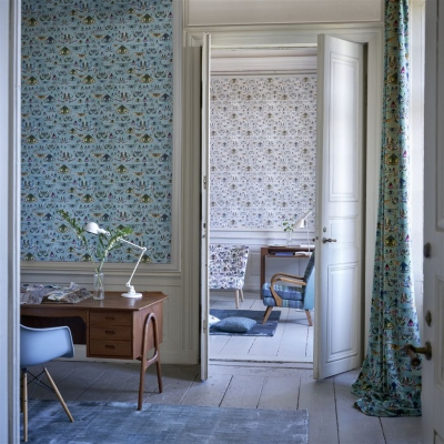 Designers Guild Issoria Jade wallpaper