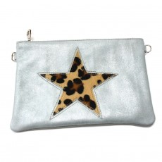 Collection CAPSULE VOYAGE bag in blue grey star leopard