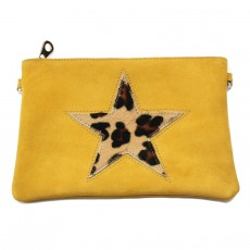 Collection CAPSULE VOYAGE bag in yellow star leopard