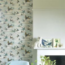 John Derian Chimney Swallows wallpaper