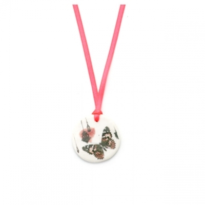 Lilakacemi necklace butterfly fluo