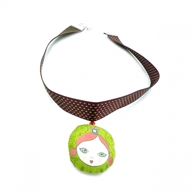 Georges et Rosalie green short necklace