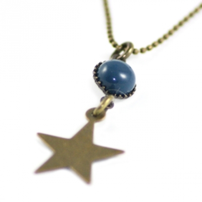 Paris At Night necklace Star in blue