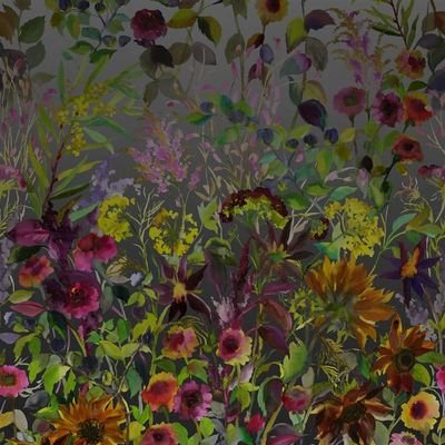 Designers Guild papier peint Indian Sunflower Graphite