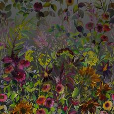 Designers Guild wallpaper Indian Sunflower Graphite