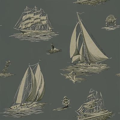 Ralph Lauren Down Easter Boats Fog wallpaper