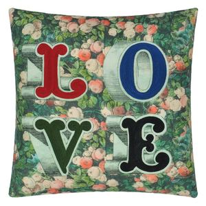 John Derian cushion Love Forest