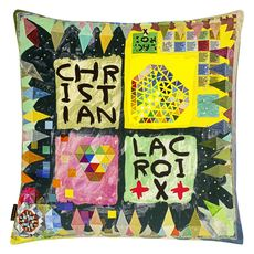 Christian Lacroix cushion Arlecchino Wood Multicolore