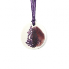 Lilakacemi necklace porcelaine purple