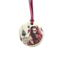 Lilakacemi necklace porcelain La Belle Inconnue