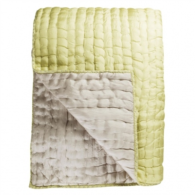 Designers Guild silk Quilt Chenevard Silver & Willow XL
