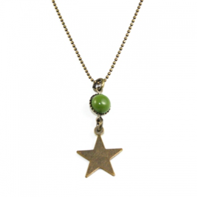 Paris At Night necklace Star in green