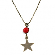 Paris At Night necklace Star in red