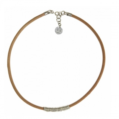 CORALIE DE SEYNES short necklace anneaux natural/silvered