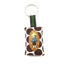 Georges & Rosalie key ring printed fabric PCG03-1
