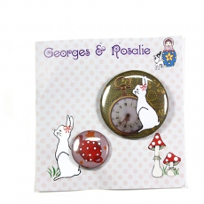 Georges & Rosalie rabbit & theière pin BA25
