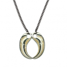 CORALIE DE SEYNES long necklace Phenix silver