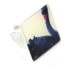 Amelie Blaise square ring Black Swan