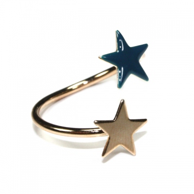 Emmanuelle Biennassis ring Star gold/duck blue
