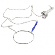 Louise Hendricks necklace My Sea silver/blue