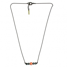 Les Femmes à Barbes Necklace Pop bicolor Black/Abricot