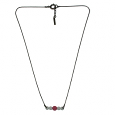 Les Femmes à Barbes Necklace Pop bicolor Grey/Old Rose