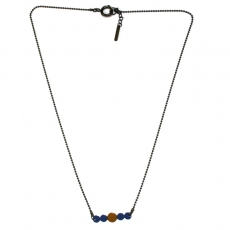 Les Femmes à Barbes Necklace Pop bicolor Blue/Moutarde