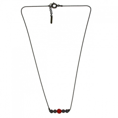 Les Femmes à Barbes Necklace Pop Uni Red