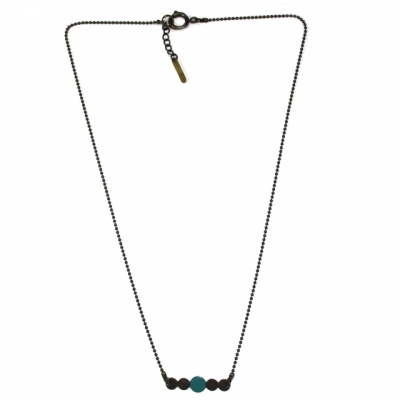 Les Femmes à Barbes Necklace Pop Uni Green Blue